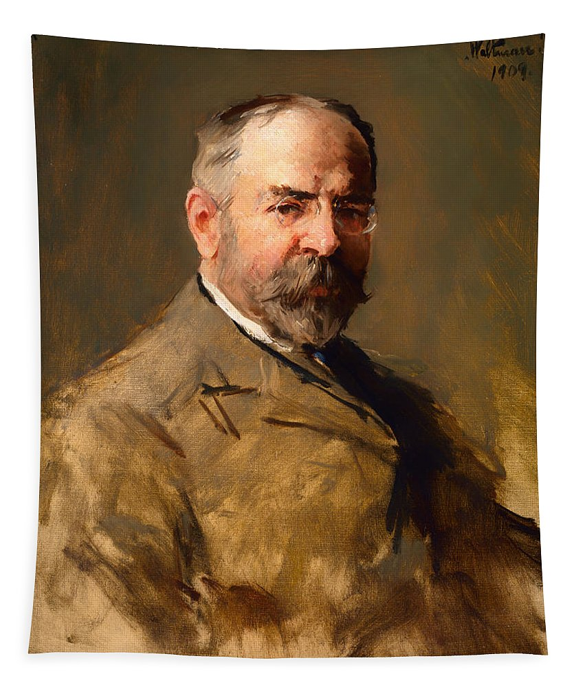 Painting Tapestry featuring the painting John Philip Sousa by Mountain Dreams