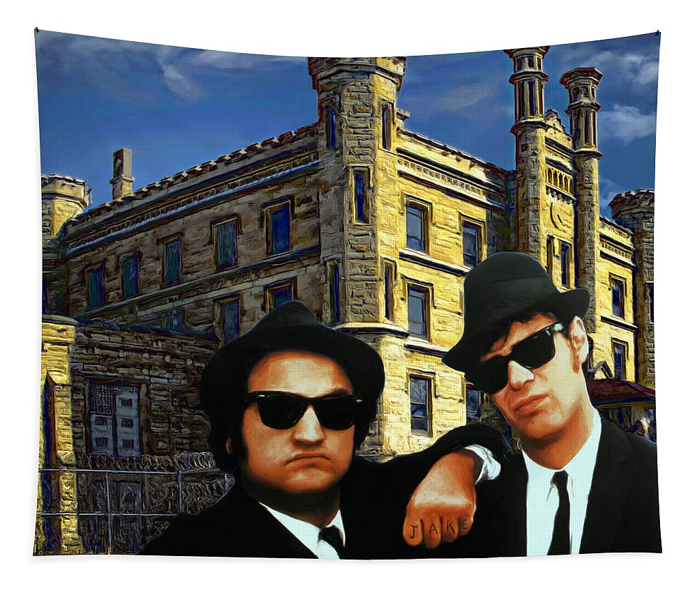 Joliet Prison Tapestry featuring the painting Joliet Class Of 1978 by Dominic Piperata