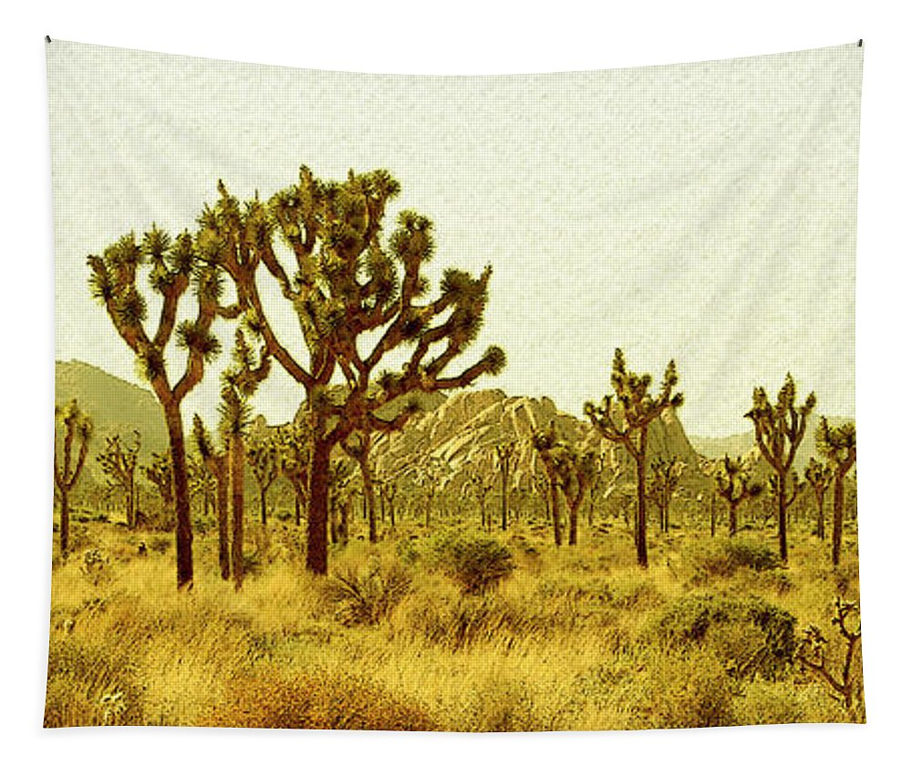 Joshua Tree Tapestry featuring the photograph Joshua Tree National Park by Ben and Raisa Gertsberg