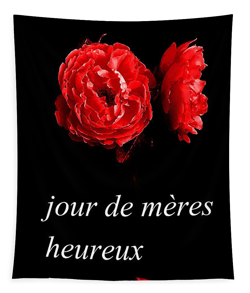 Jour De Meres Heureux Tapestry featuring the photograph Jour De Meres Heureux by R Muirhead Art
