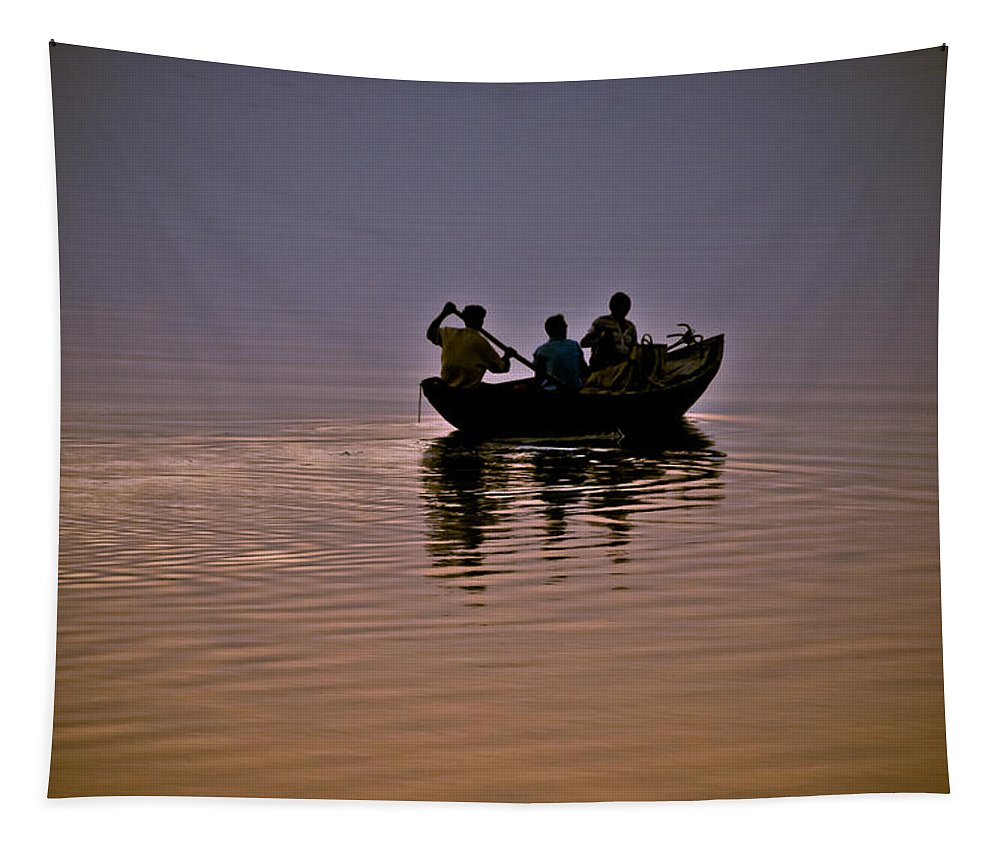 Water-scape Tapestry featuring the photograph Journey 2 by Sagar Lahiri