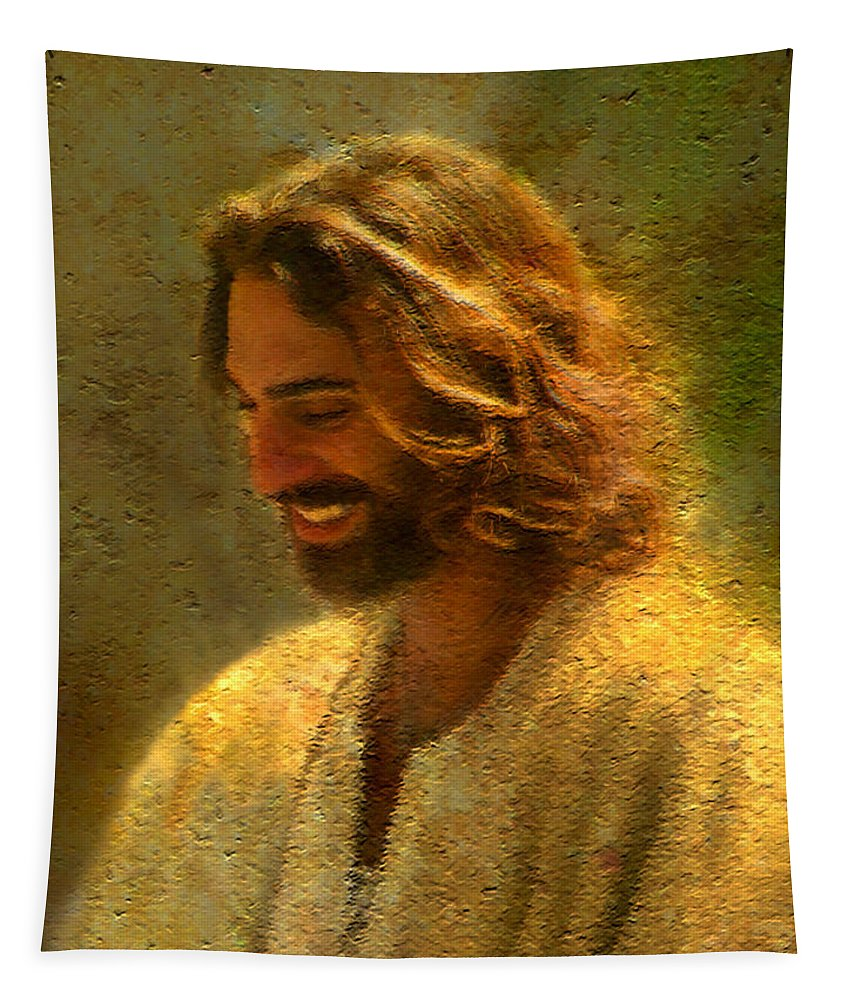 Jesus Tapestry featuring the painting Joy of the Lord by Greg Olsen