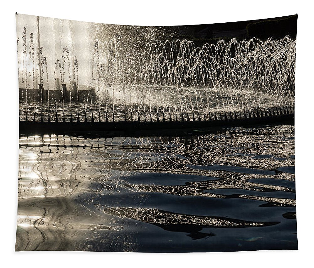 Georgia Mizuleva Tapestry featuring the photograph Joyful Sunny Splashes by Georgia Mizuleva