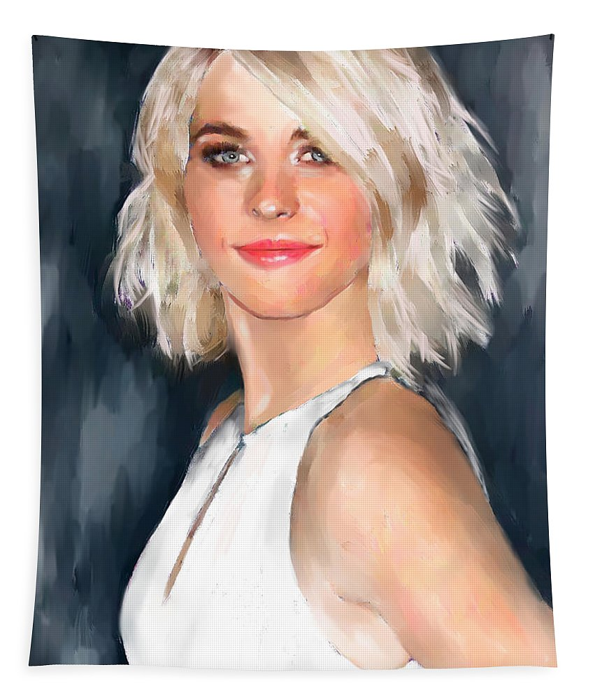 Figure Tapestry featuring the painting Julianne Hough by Scott Bowlinger