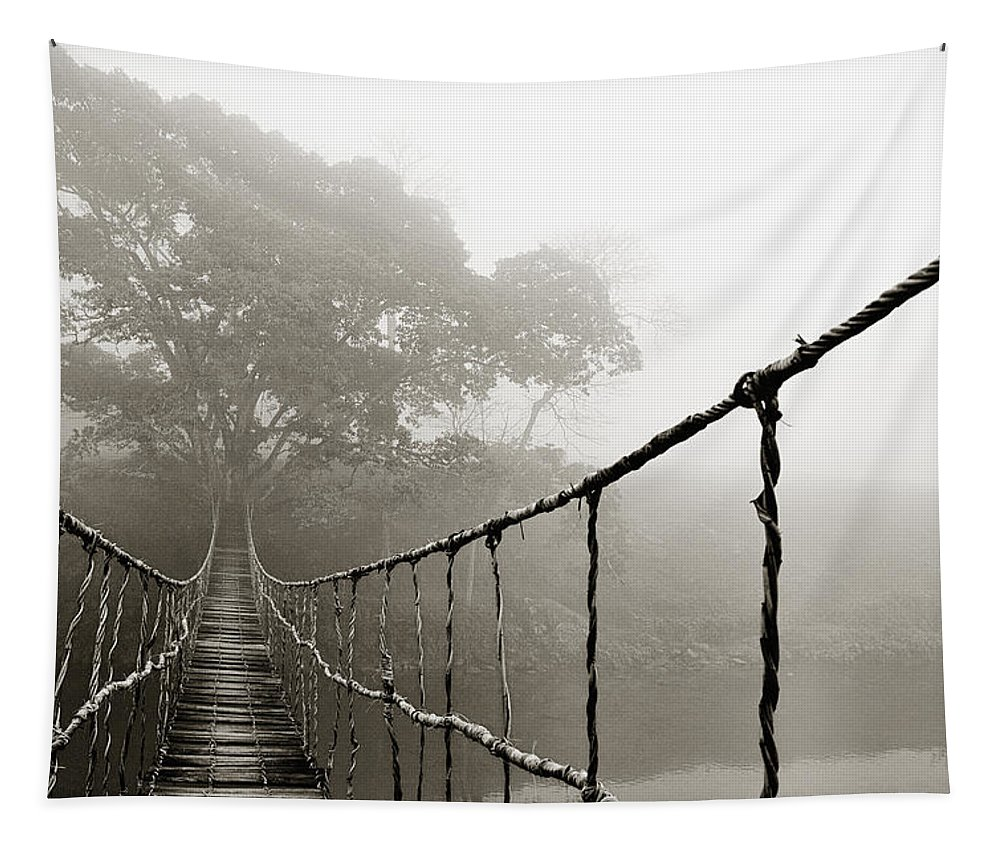 Rope Bridge Tapestry featuring the photograph Jungle Journey 6 by Skip Nall