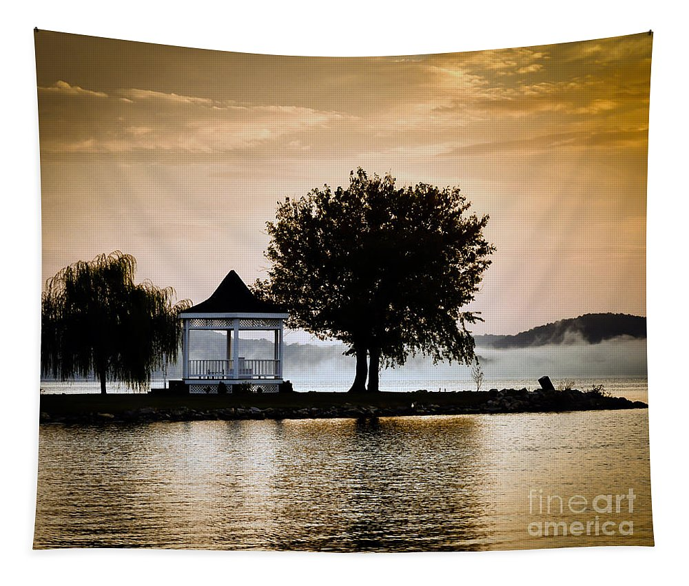 Sunrise Tapestry featuring the photograph Just Before Sunrise by Kerri Farley