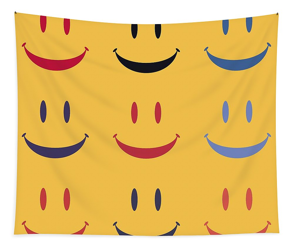 Smiley Face Tapestry featuring the digital art Just Smile by Dan Sproul