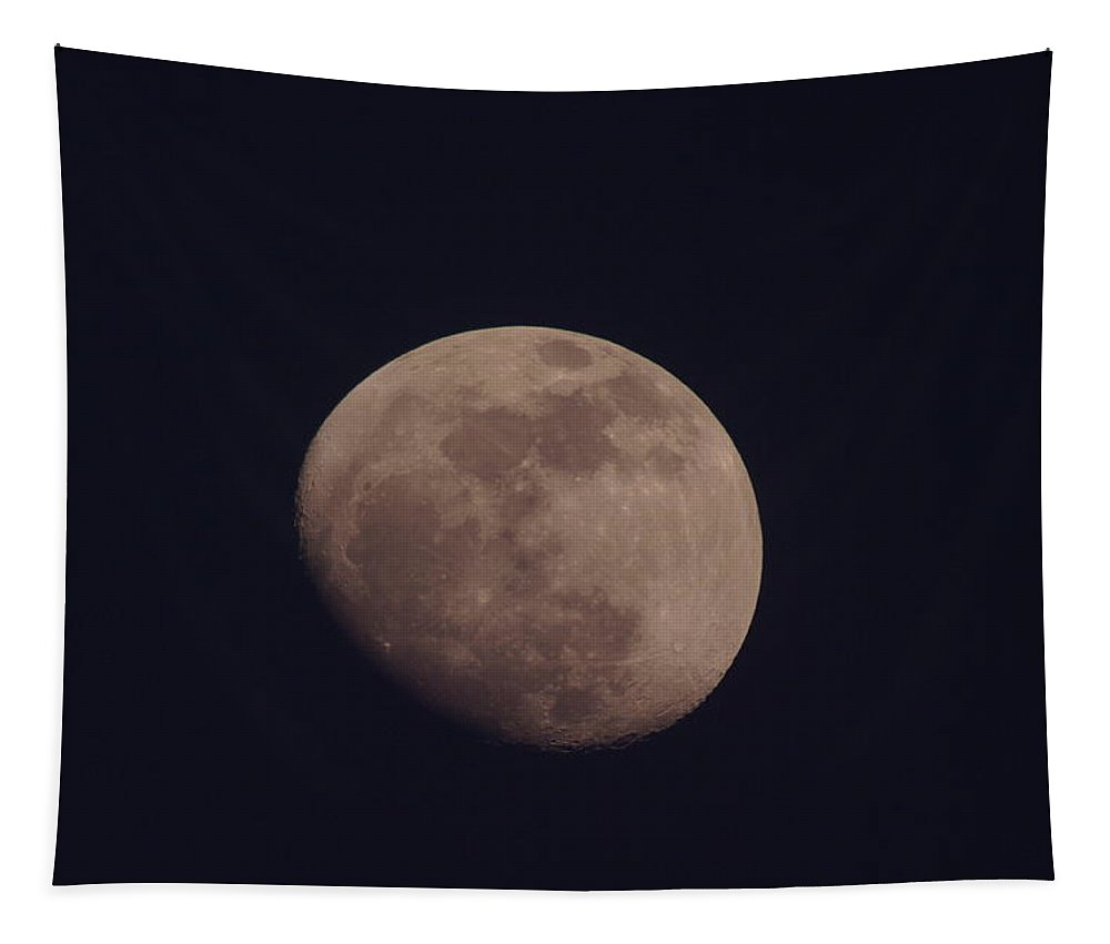 Moon Tapestry featuring the photograph Just The Moon by Jeff Swan