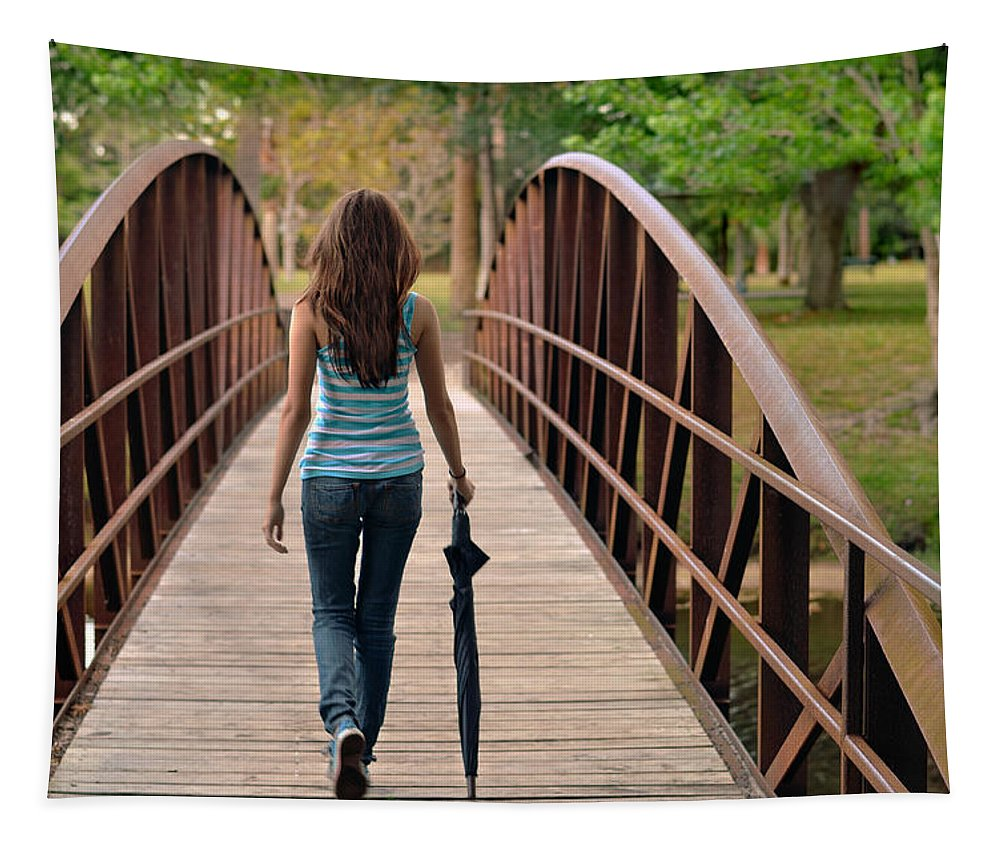 Walk Tapestry featuring the photograph Just Walk Away Renee by Laura Fasulo