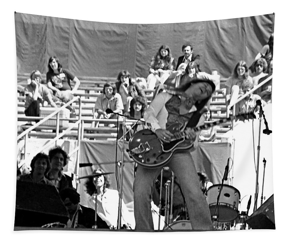 Johnny Winter Tapestry featuring the photograph Jwinter #27 by Ben Upham