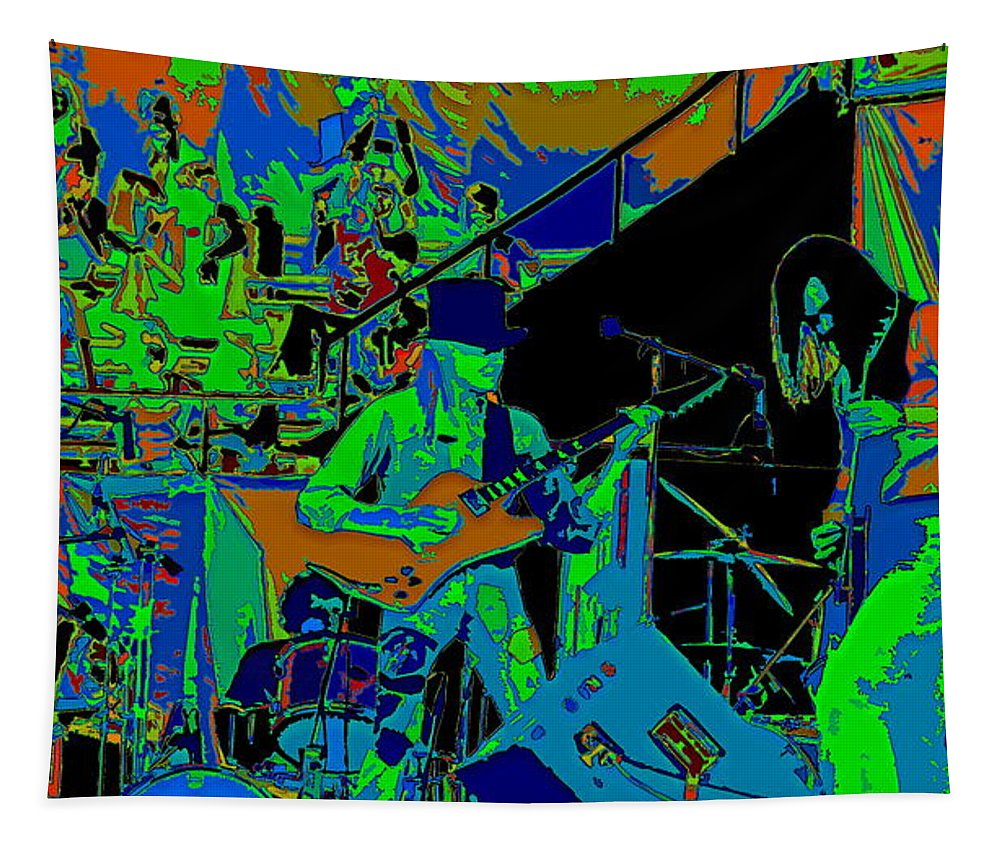 Johnny Winter Tapestry featuring the photograph Jwinter #6 Enhanced 2 by Ben Upham