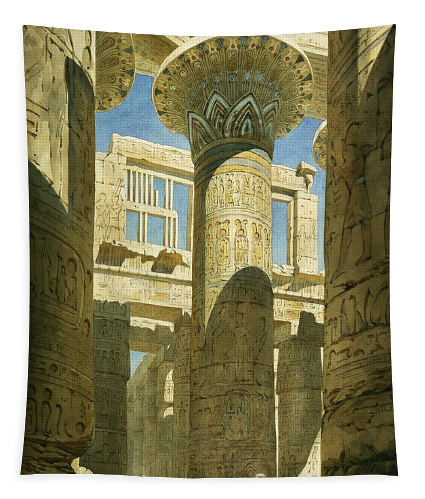 Temple Tapestry featuring the painting Karnak by Richard Phene Spiers
