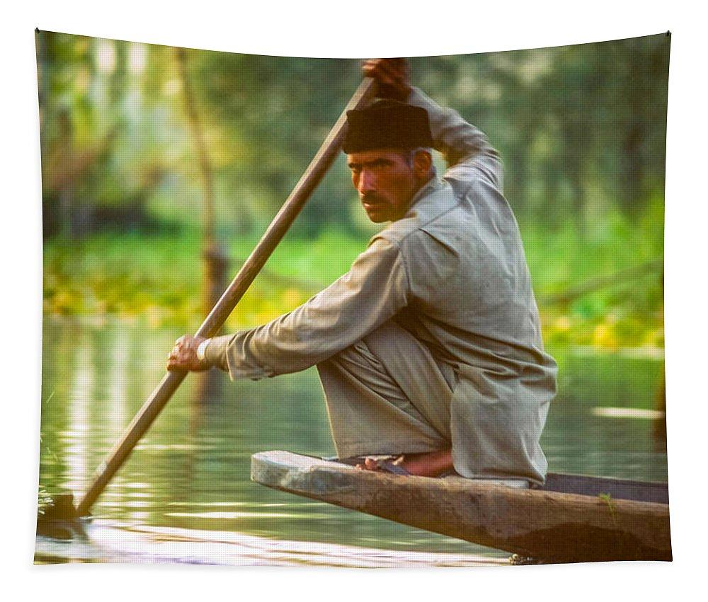 Dal Lake Tapestry featuring the photograph Kashmir Dream by Steve Harrington