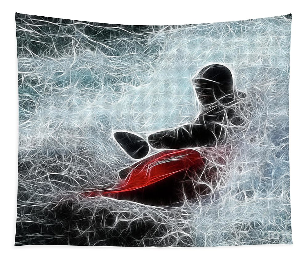 Kayak Tapestry featuring the photograph Kayaker 2 by Bob Christopher
