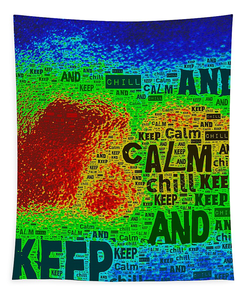 Keep Calm Tapestry featuring the photograph Keep Calm And Chill by Bill Owen