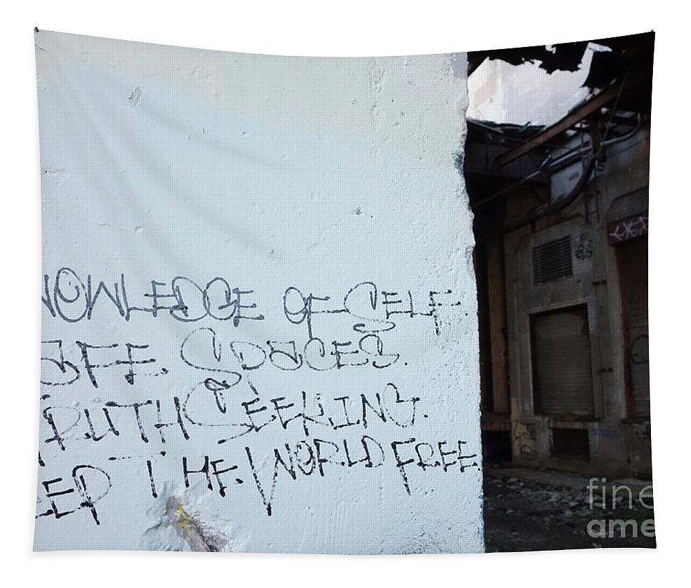Love Yourself Tapestry featuring the photograph Keep The World Free by Jacqueline Athmann