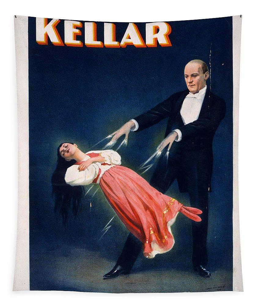 Kellar Tapestry featuring the photograph Kellar Levitation Vintage Magic Poster by Edward Fielding