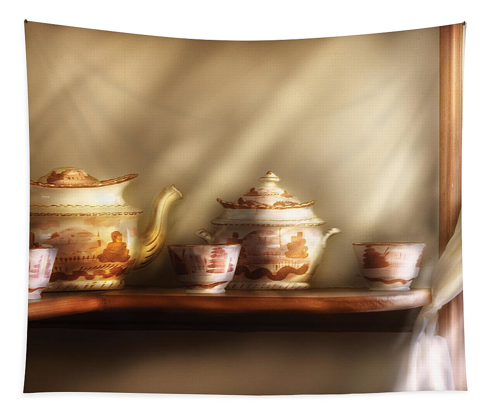 Savad Tapestry featuring the photograph Kettle - My Grandmother's Chinese Tea Set by Mike Savad