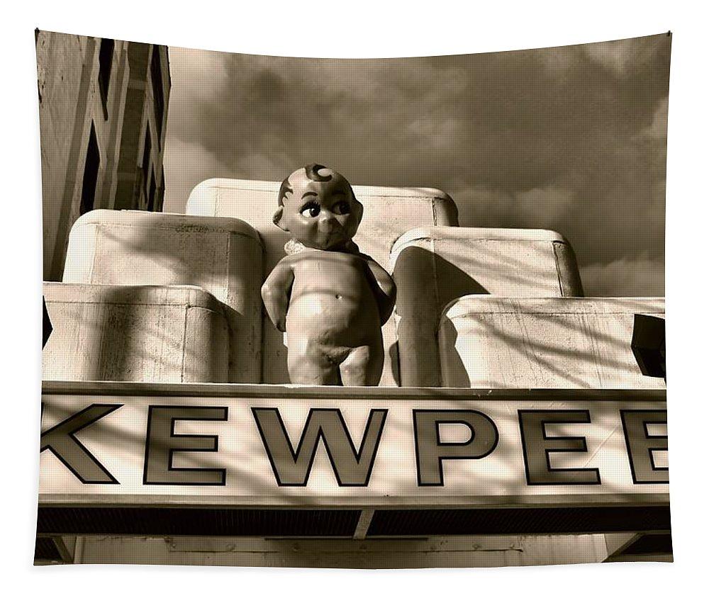 Kewpee Restaurant Tapestry featuring the photograph Kewpee Restaurant by Dan Sproul