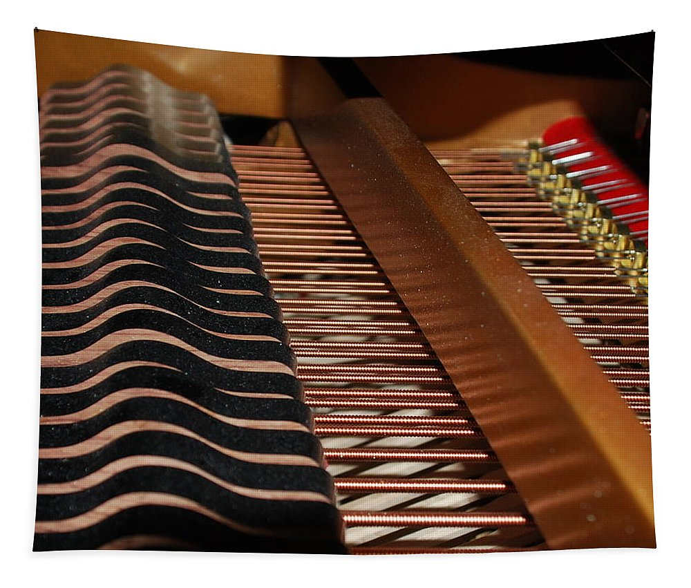 Piano Tapestry featuring the photograph Inner Workings by Michael Merry