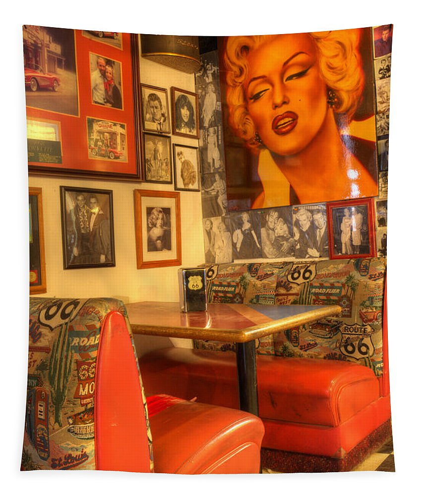 Tourist Spots Tapestry featuring the photograph Kicking On Route 66 by Bob Christopher