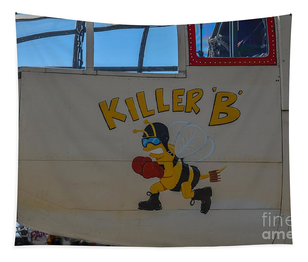 Killer B Tapestry featuring the photograph Killer B by Dale Powell