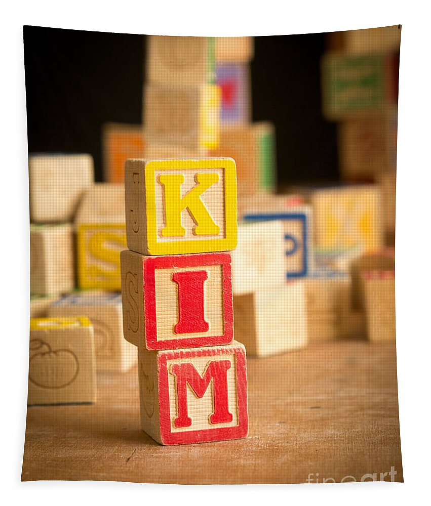 Abs Tapestry featuring the photograph Kim - Alphabet Blocks by Edward Fielding
