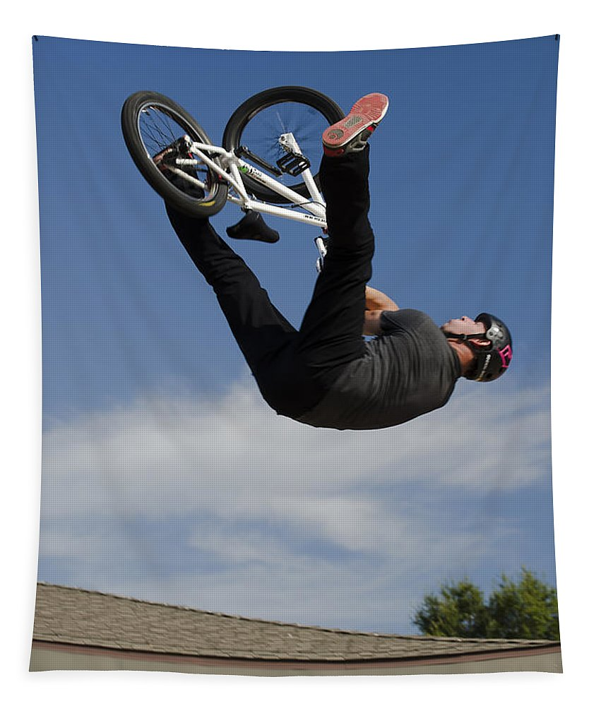 2d Tapestry featuring the photograph King Bmx 1 by Brian Wallace