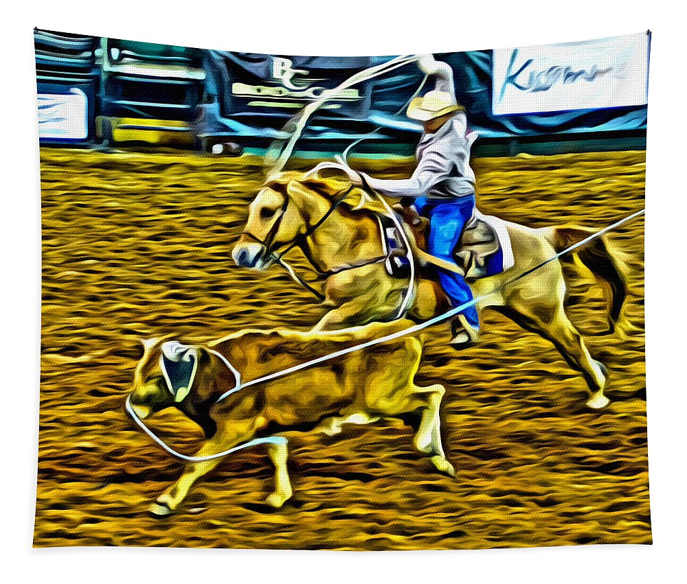 Roper Tapestry featuring the photograph Kissimmee Roper by Alice Gipson