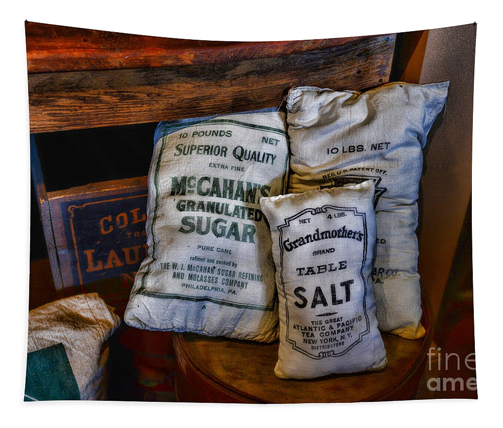 Paul Ward Tapestry featuring the photograph Kitchen - Food - Sugar And Salt by Paul Ward