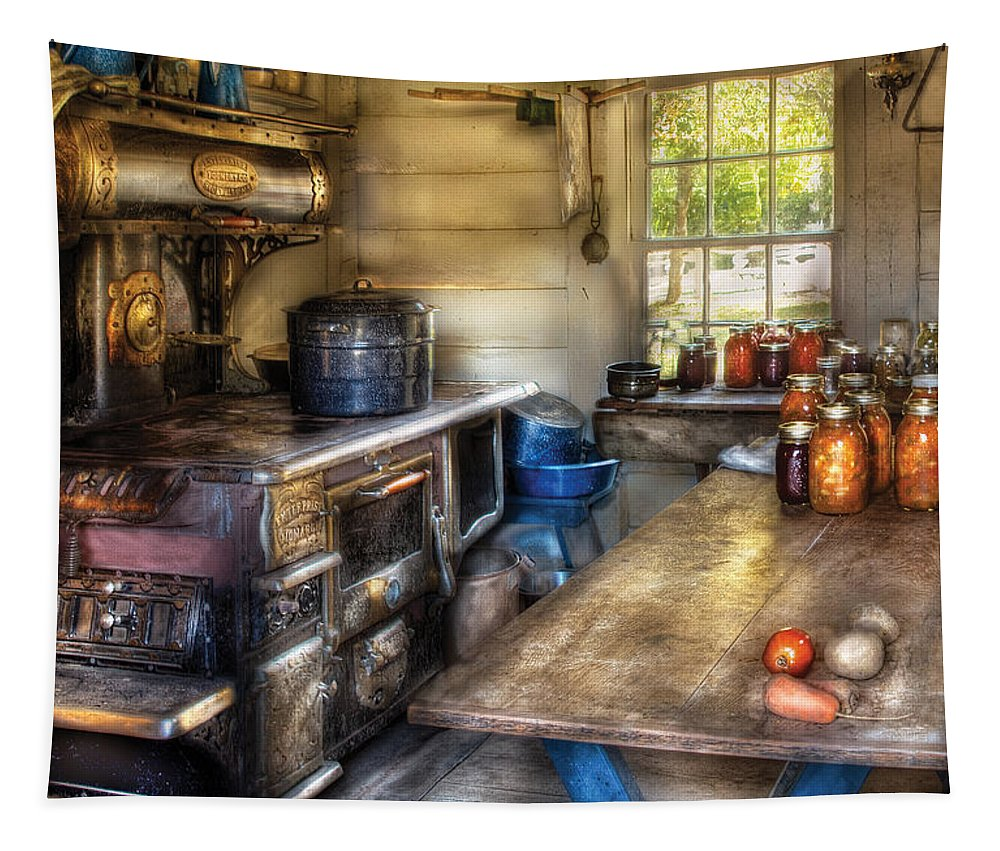 Savad Tapestry featuring the photograph Kitchen - Home Country Kitchen by Mike Savad