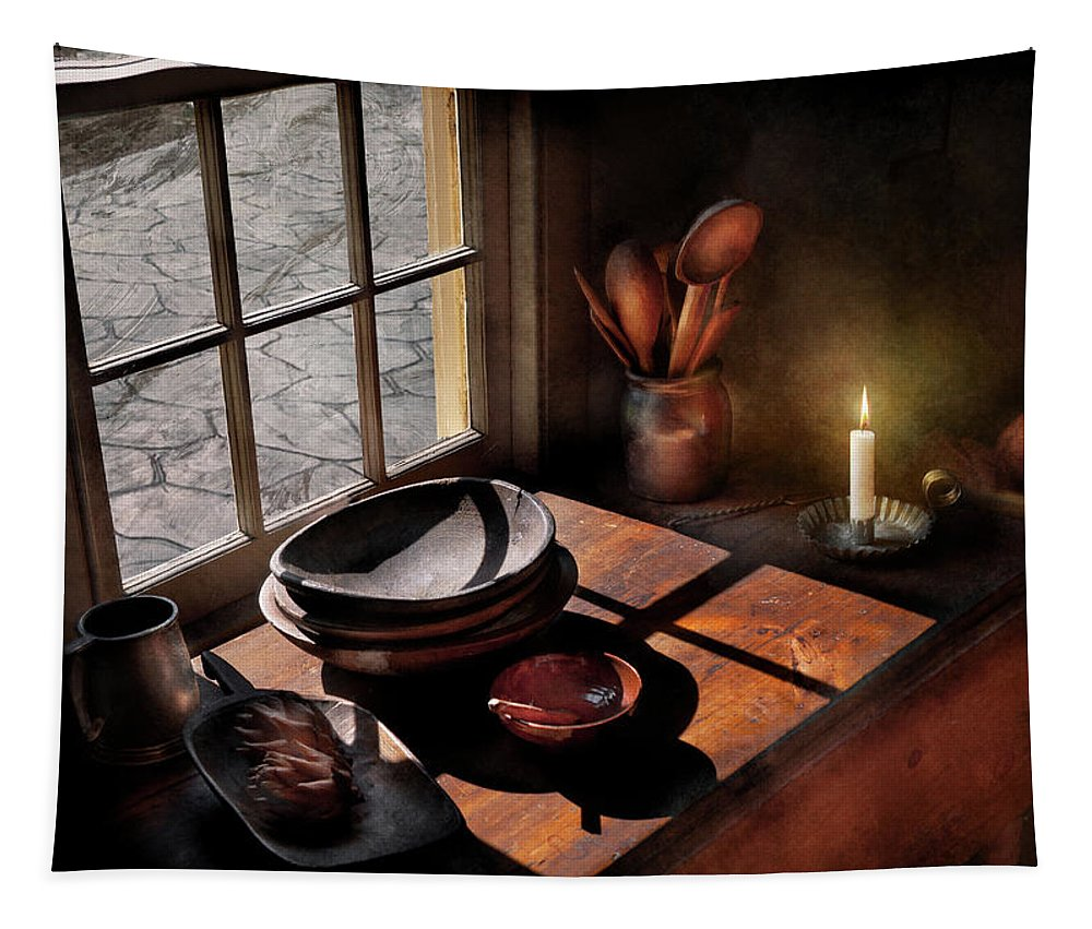 Chef Tapestry featuring the photograph Kitchen - On A Table II by Mike Savad