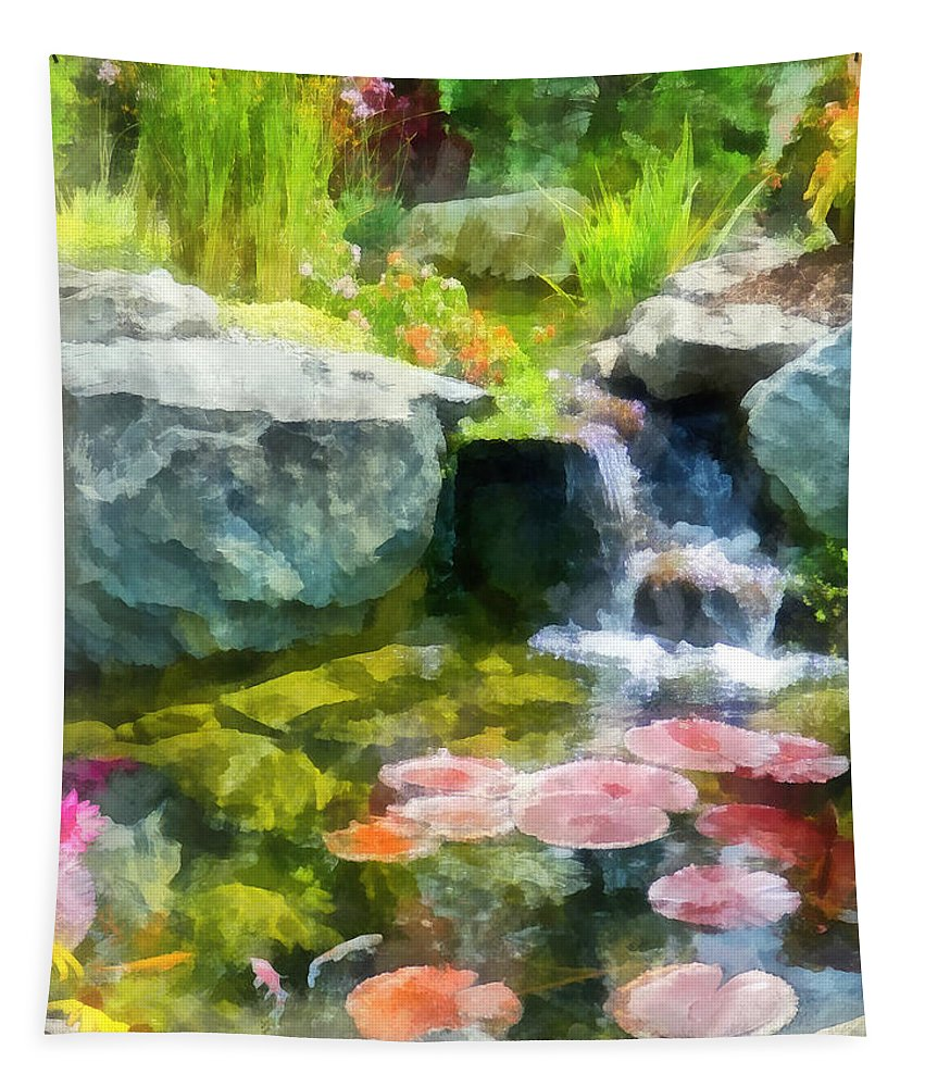 Koi Tapestry featuring the photograph Koi Pond by Susan Savad
