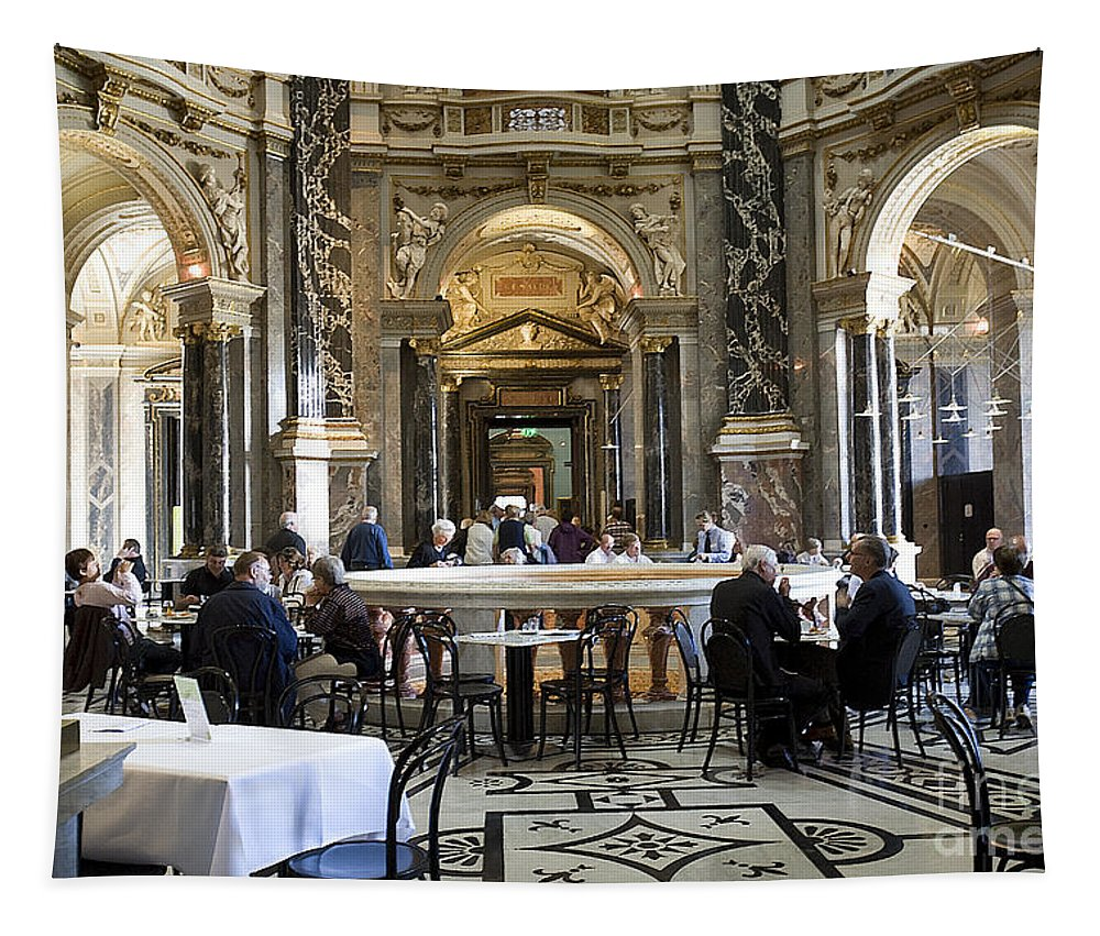 Kunsthistorische Museum Tapestry featuring the photograph At The Kunsthistorische Museum Cafe II by Madeline Ellis