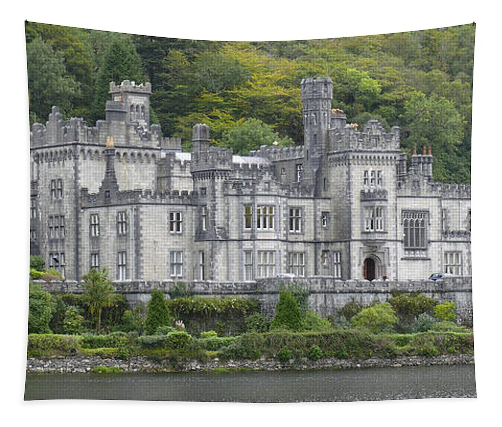 Travel Tapestry featuring the photograph Kylemore Abbey by Mike McGlothlen