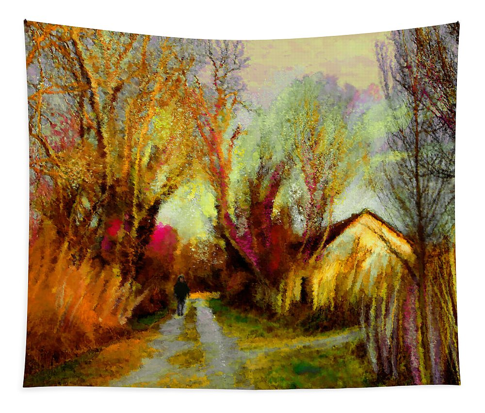 Travel Art Tapestry featuring the painting La Camargue 02 by Miki De Goodaboom