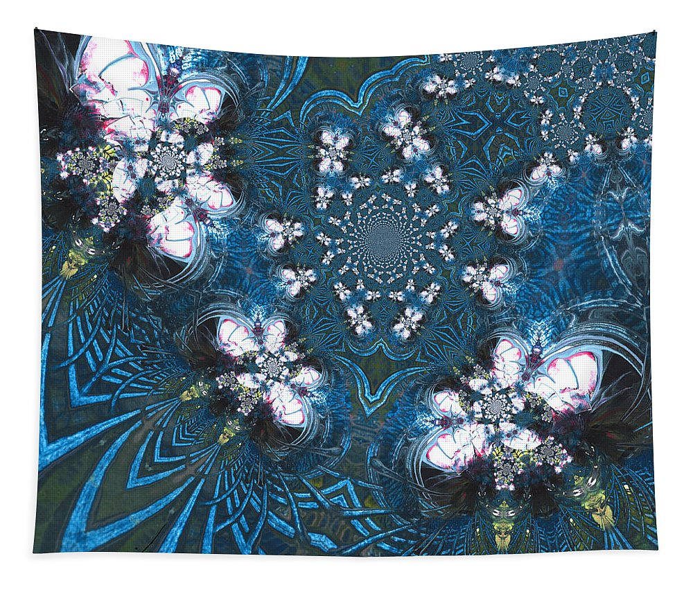 Dreams Tapestry featuring the painting La Danse Des Papillons by Miki De Goodaboom