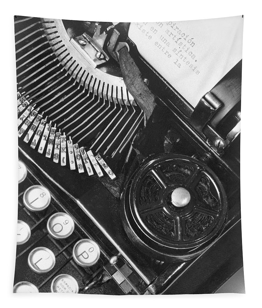 Photography Tapestry featuring the photograph La Tecnica - The Typewriter Of Julio by Tina Modotti
