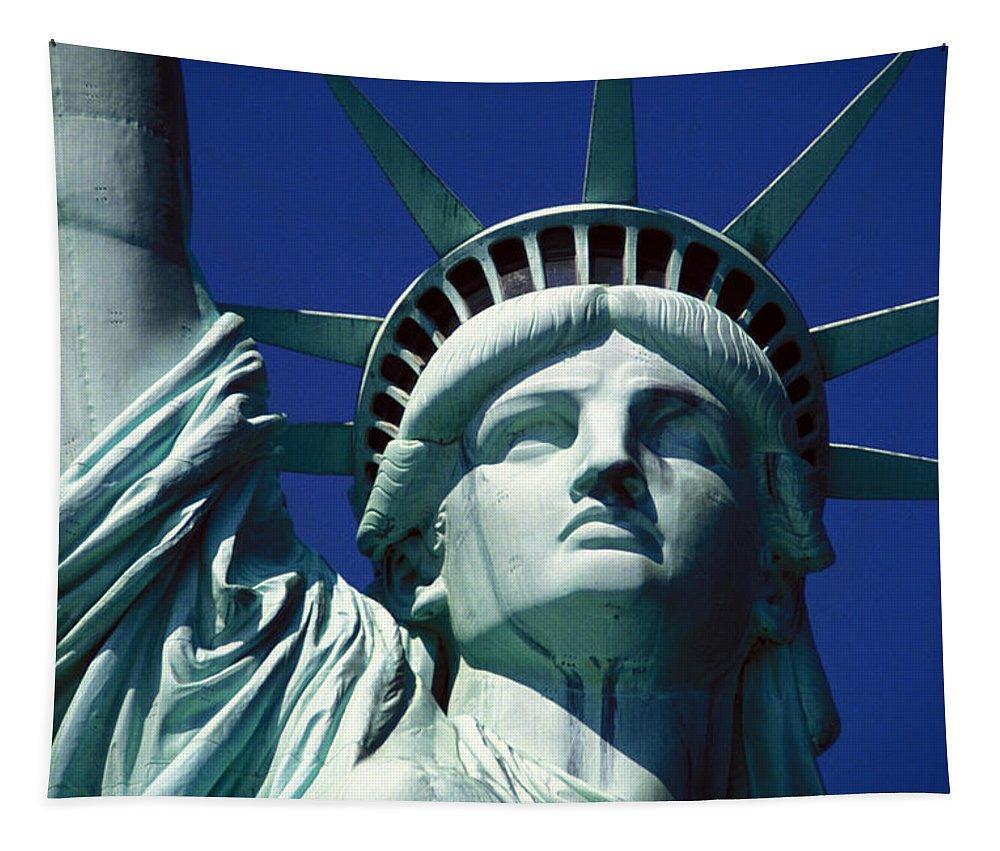 Lady Liberty Tapestry featuring the photograph Lady Liberty by Jon Neidert