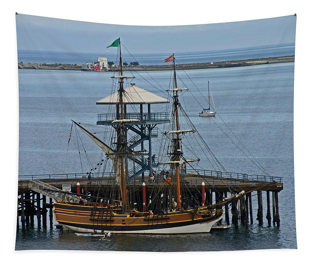 Schooner Tapestry featuring the photograph Lady Washington by Hugh Carino