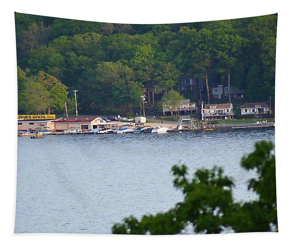Lake Hopatcong Tapestry featuring the photograph Lake Hopatcong Scene 4 by Maureen E Ritter