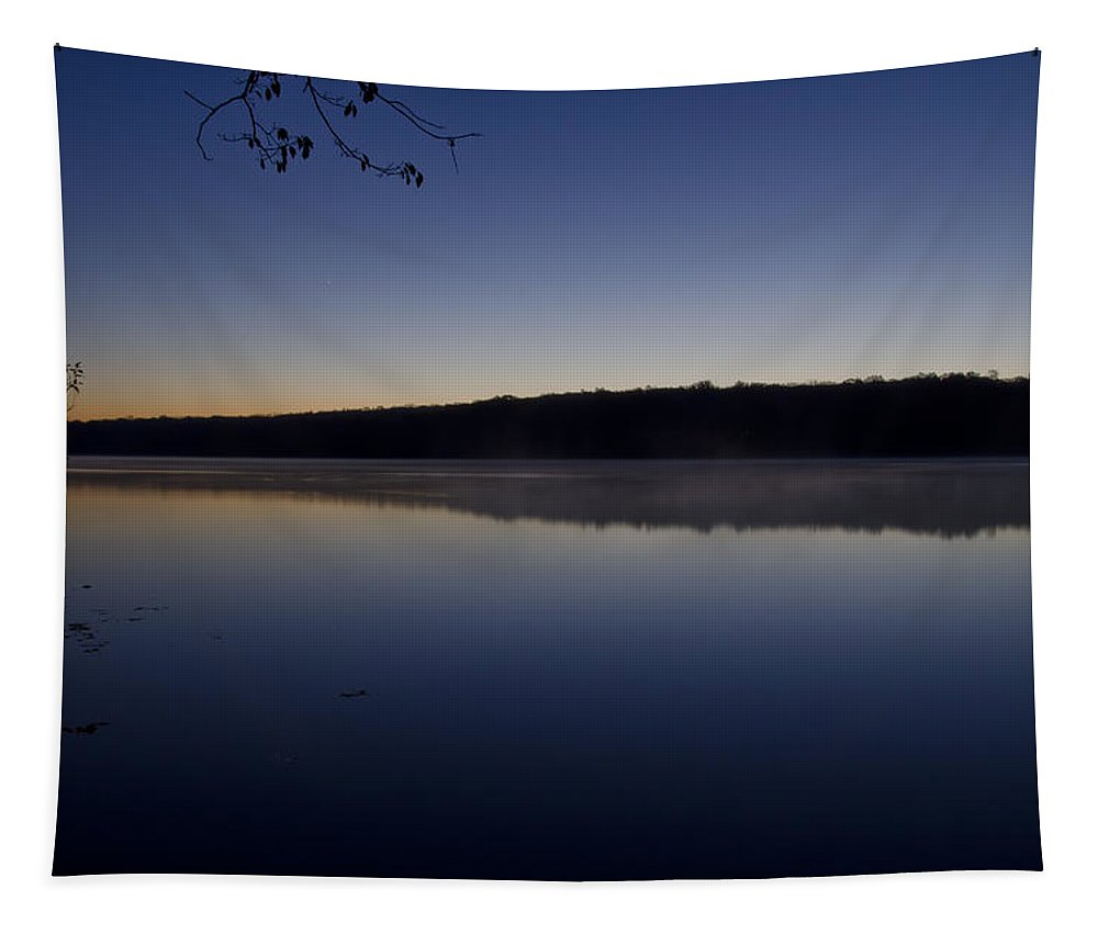 Lake Tapestry featuring the photograph Lake Nockamixon Just Before Sunrise by Bill Cannon