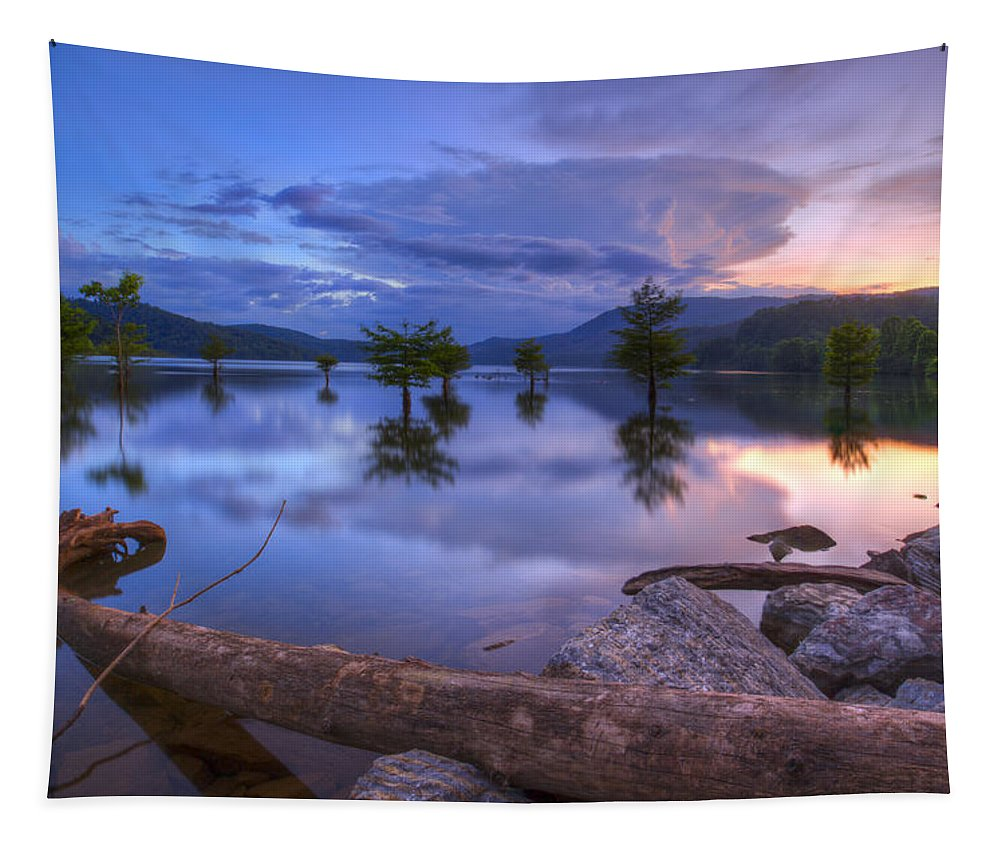 Appalachia Tapestry featuring the photograph Lake Ocoee by Debra and Dave Vanderlaan