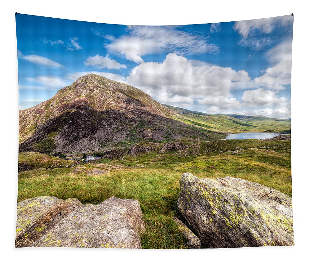 Hdr Tapestry featuring the photograph Lake Ogwen by Adrian Evans