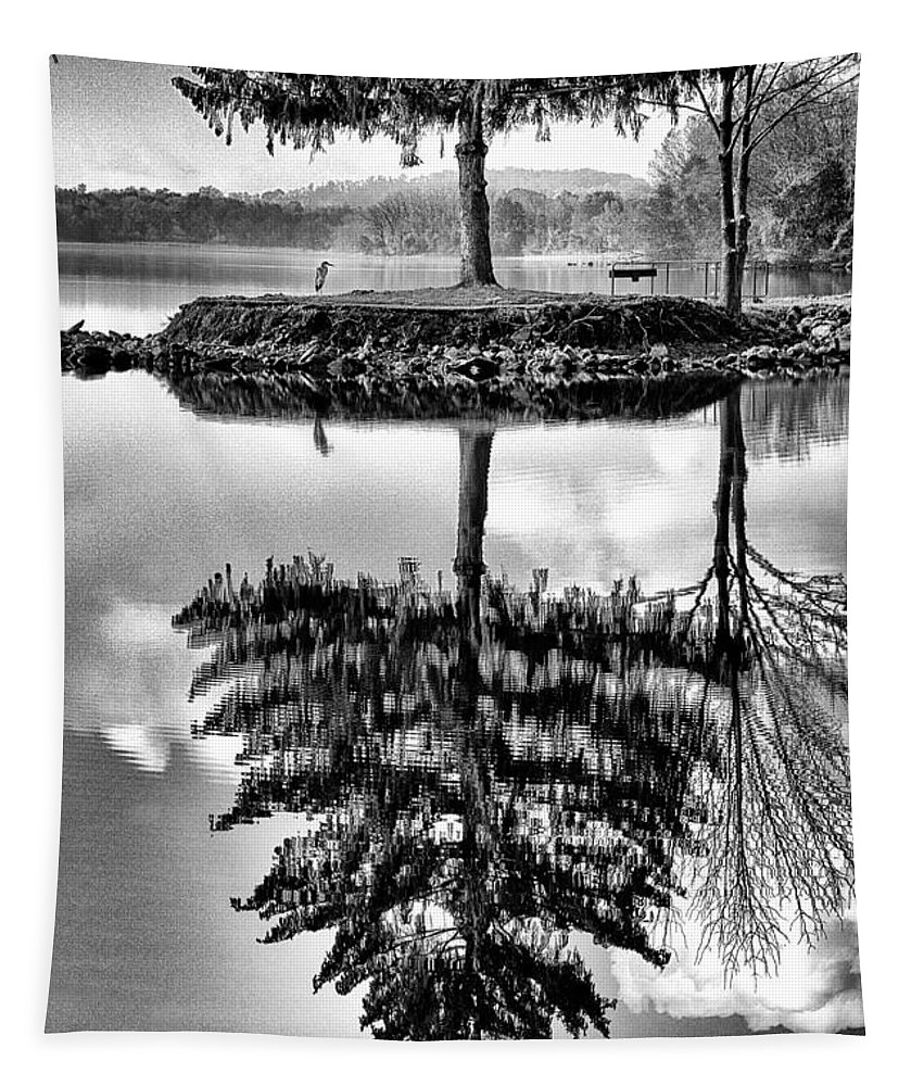Lake Tapestry featuring the photograph Lake Tree by Paul W Faust - Impressions of Light