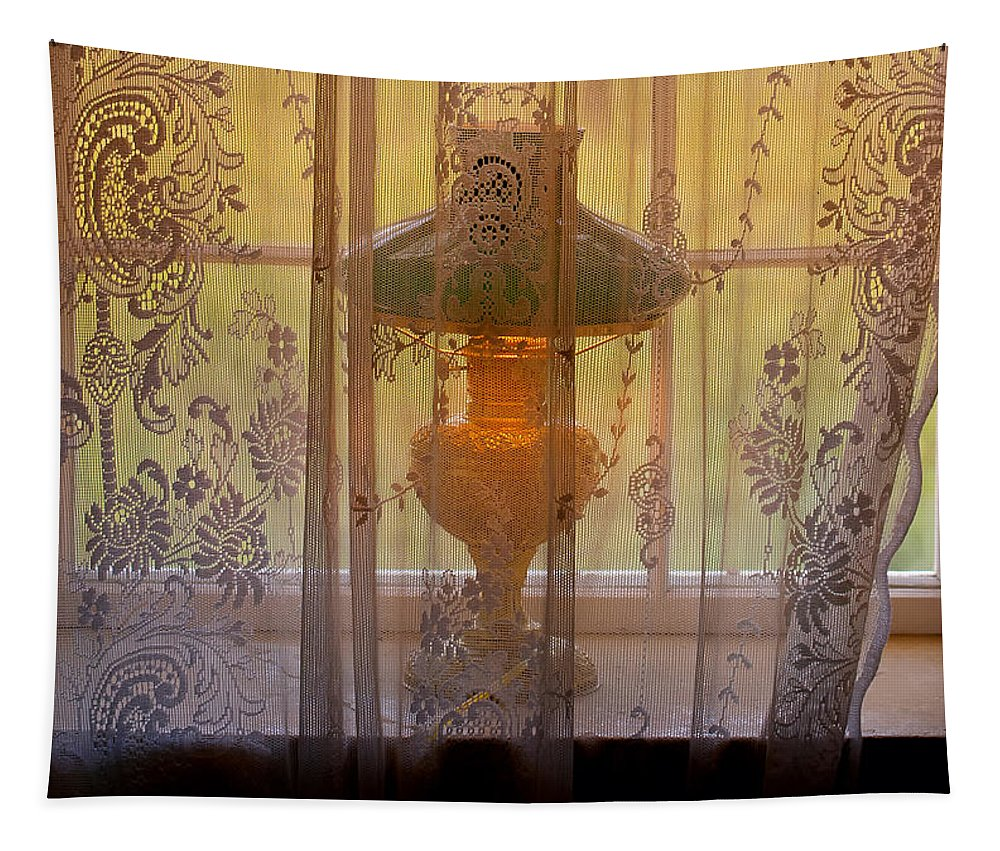 Lamp Tapestry featuring the photograph Lamp Light Glow by Stephen Anderson