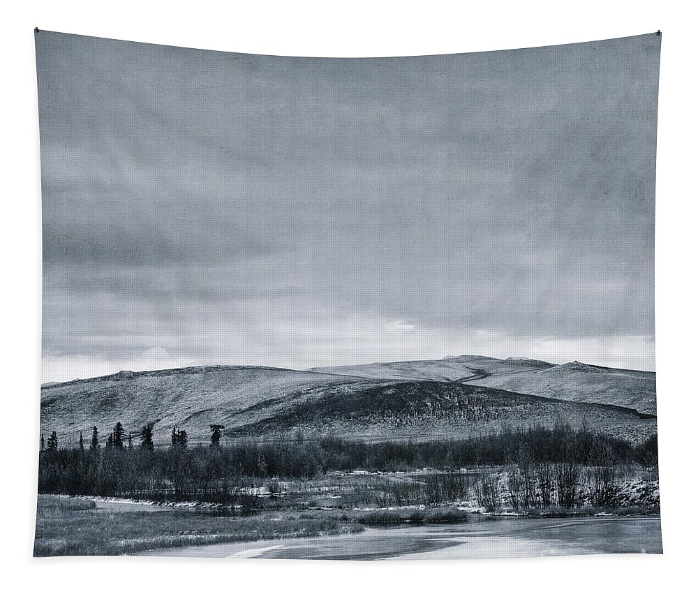 Mountain Tapestry featuring the photograph Land Shapes 11 by Priska Wettstein