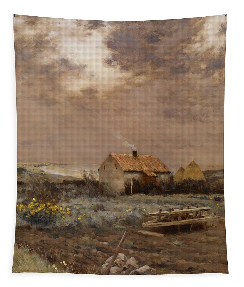 Land Tapestry featuring the painting Landscape by Jean Charles Cazin