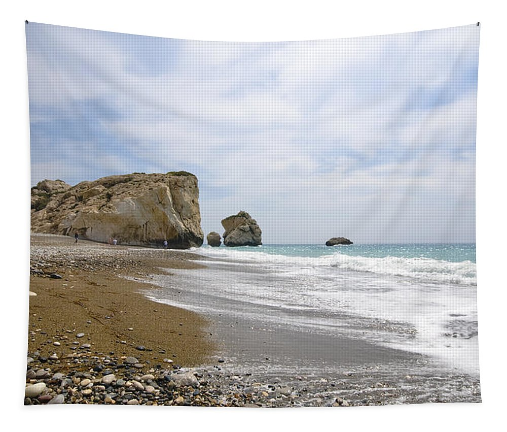 Michalakis Ppalis Tapestry featuring the photograph Seascape Paphos Cyprus by Michalakis Ppalis