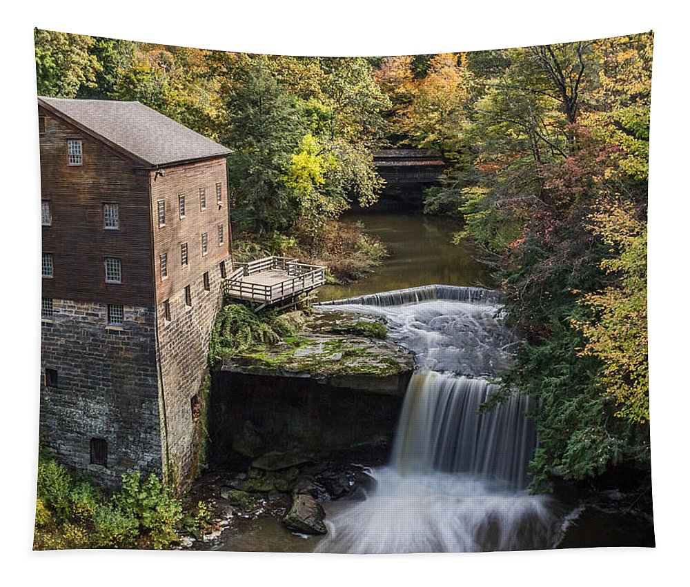 Lantermans Mill Tapestry featuring the photograph Lantermans Mill by Dale Kincaid